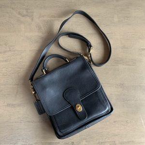 Coach | Vintage Station Bag Black Leather